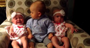 baby meets twins his reaction is